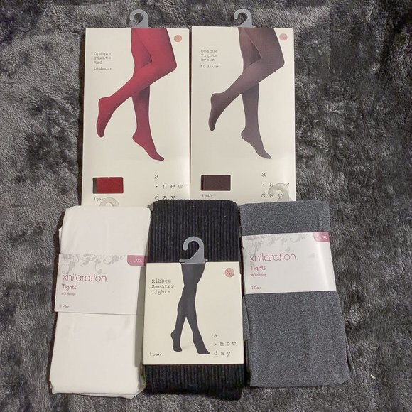 Lot of 5 pairs of tights! JUST $4 EACH!!